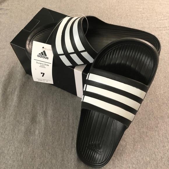 02d711fb0793 NIB Adidas Duramo Slides Sandals. NWT